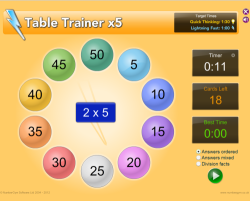 TableTrainer: x5 Answers ordered